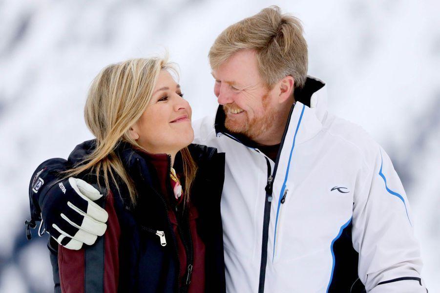 La reine Maxima et le roi Willem-Alexander des Pays-Bas à Lech, le 25 février 2020