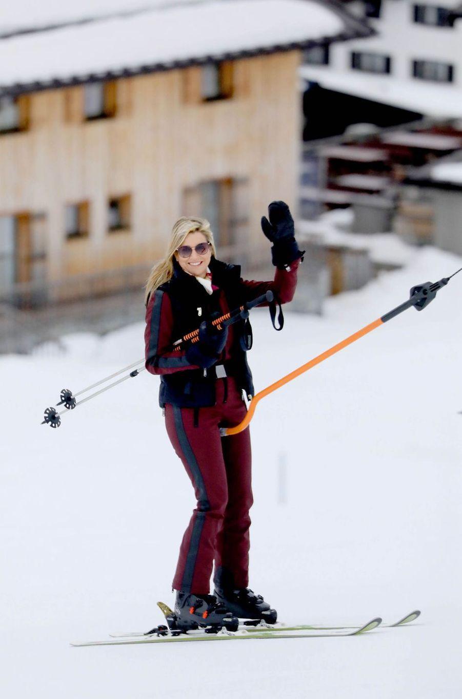 La reine Maxima des Pays-Bas à Lech, le 25 février 2020
