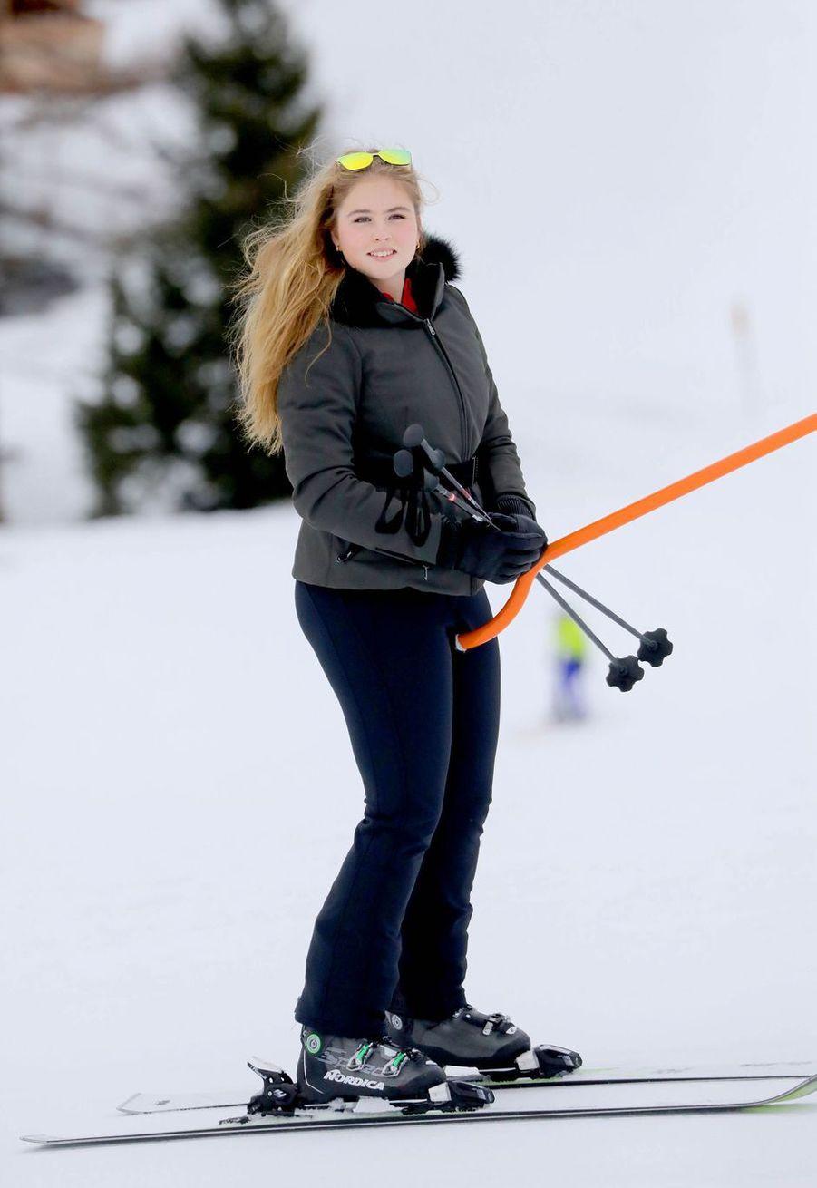 La princesse Catharina-Amalia des Pays-Bas à Lech, le 25 février 2020