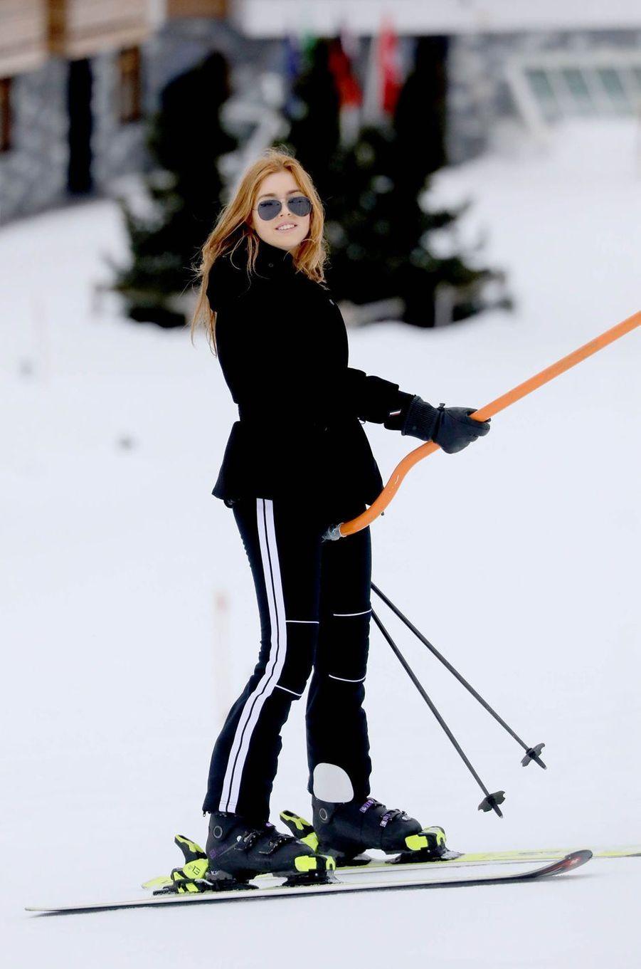 La princesse Alexia des Pays-Bas à Lech, le 25 février 2020