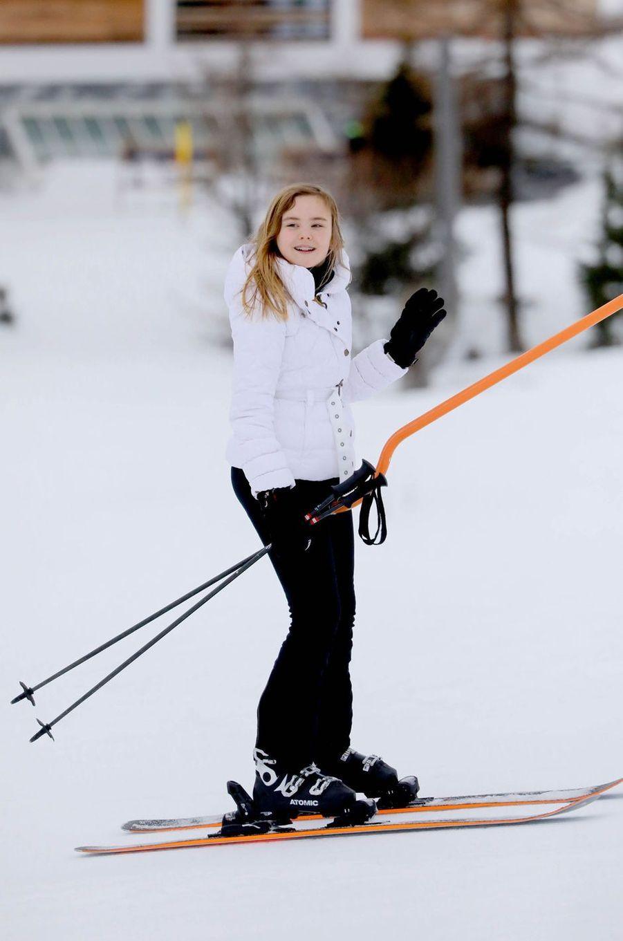 La princesse Ariane des Pays-Bas à Lech, le 25 février 2020