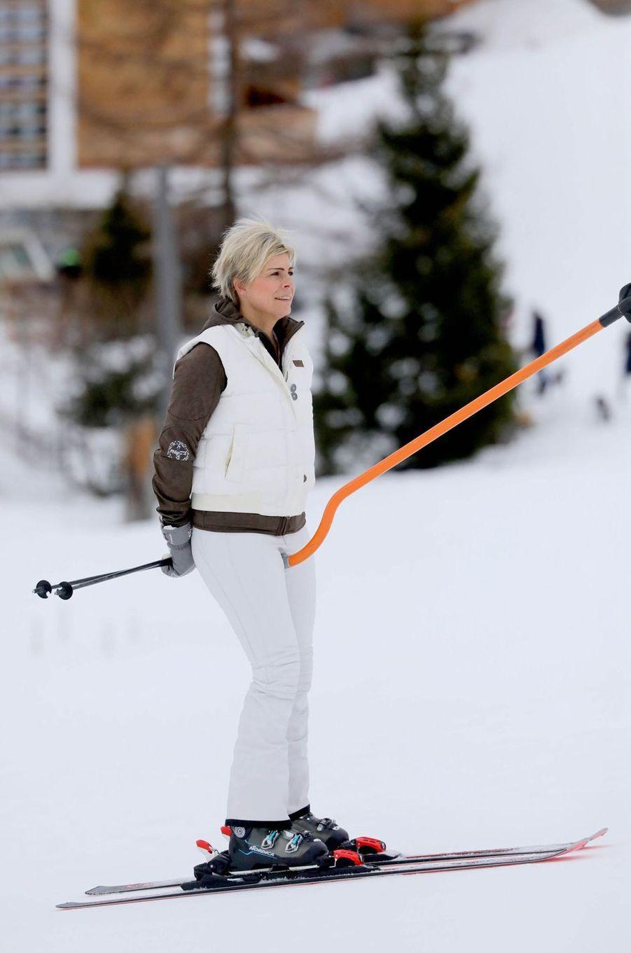 La princesse Laurentien des Pays-Bas à Lech, le 25 février 2020