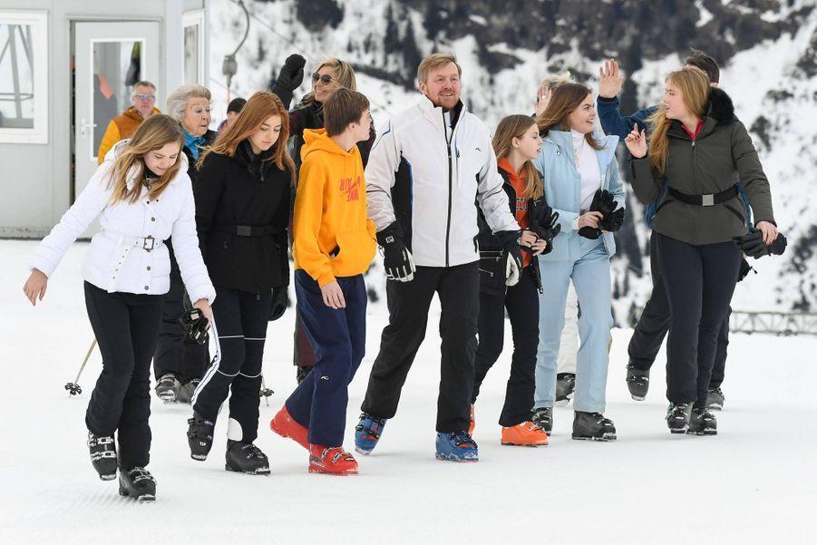 La famille royale des Pays-Bas à Lech, le 25 février 2020