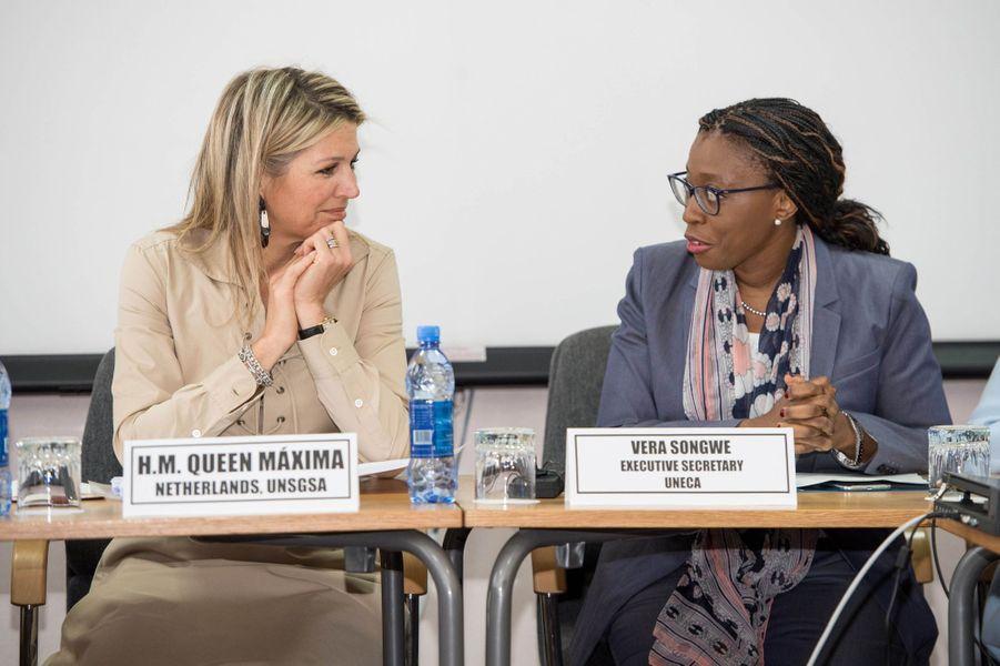 La reine Maxima des Pays-Bas en réunion à Addis-Abeba en Ethiopie, le 14 mai 2019