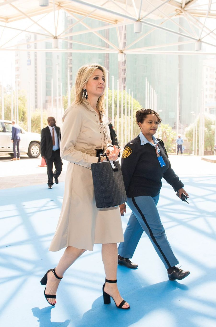 La reine Maxima des Pays-Bas à Addis-Abeba en Ethiopie, le 14 mai 2019