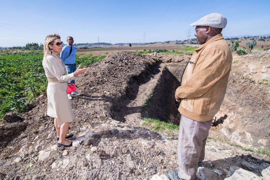 La reine Maxima des Pays-Bas à Debre Berhan en Ethiopie, le 14 mai 2019