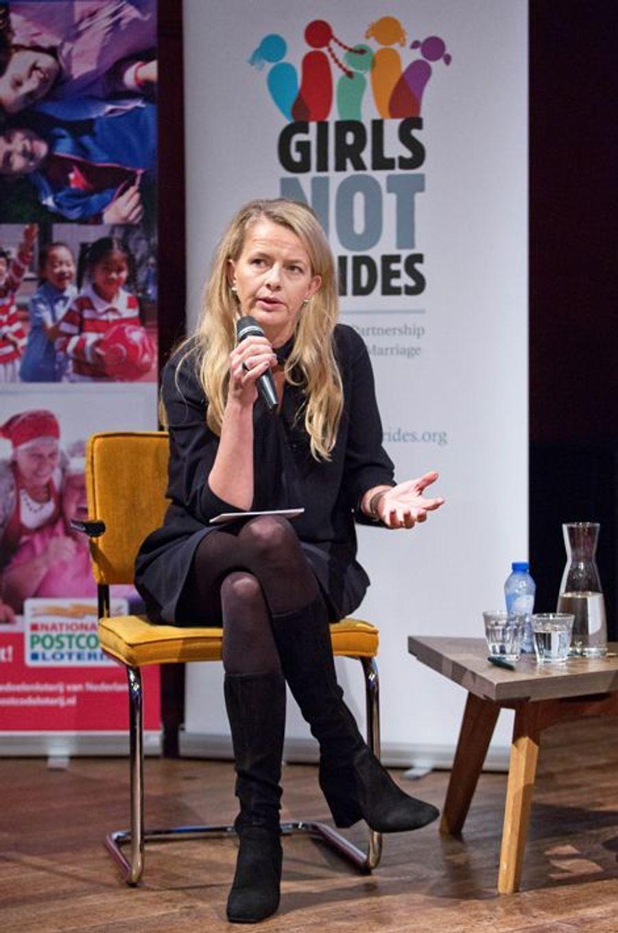 La princesse Mabel des Pays-Bas à Amsterdam, le 23 novembre 2015