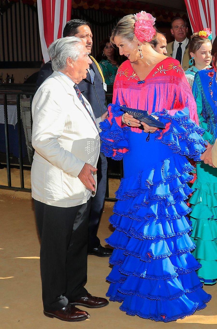 La reine Maxima des Pays-Bas à Séville, le 10 mai 2019