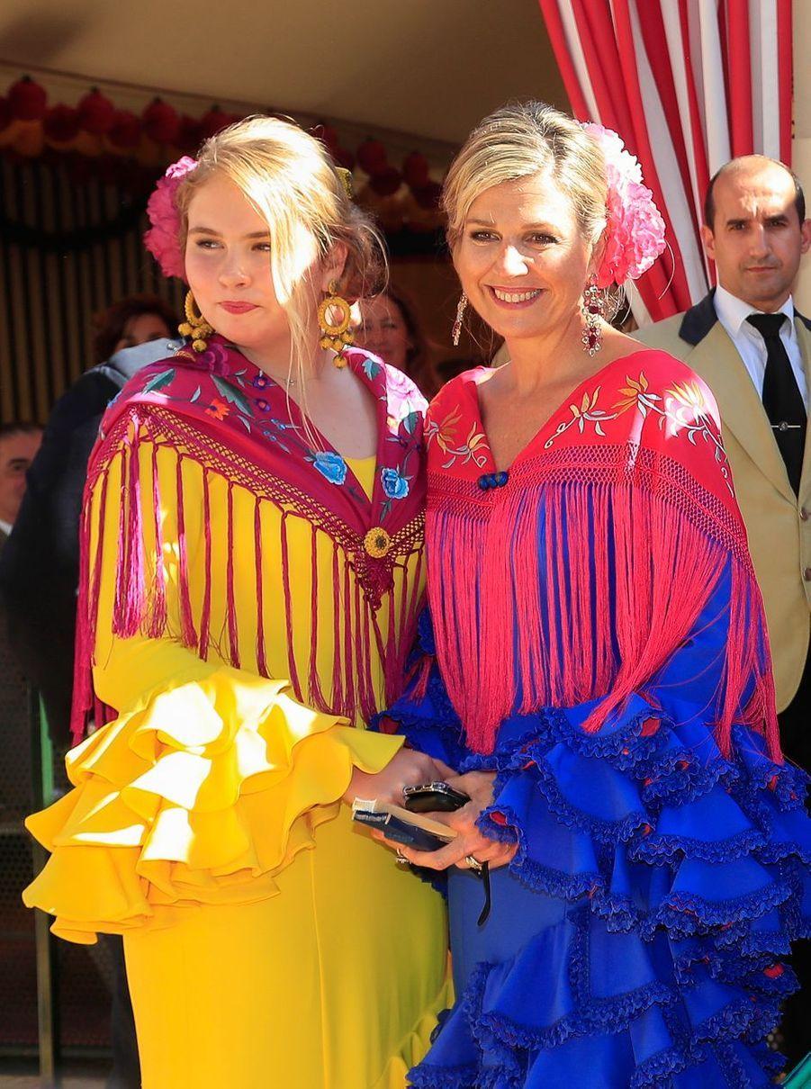 La princesse Catharina-Amalia et la reine Maxima des Pays-Bas à Séville, le 10 mai 2019