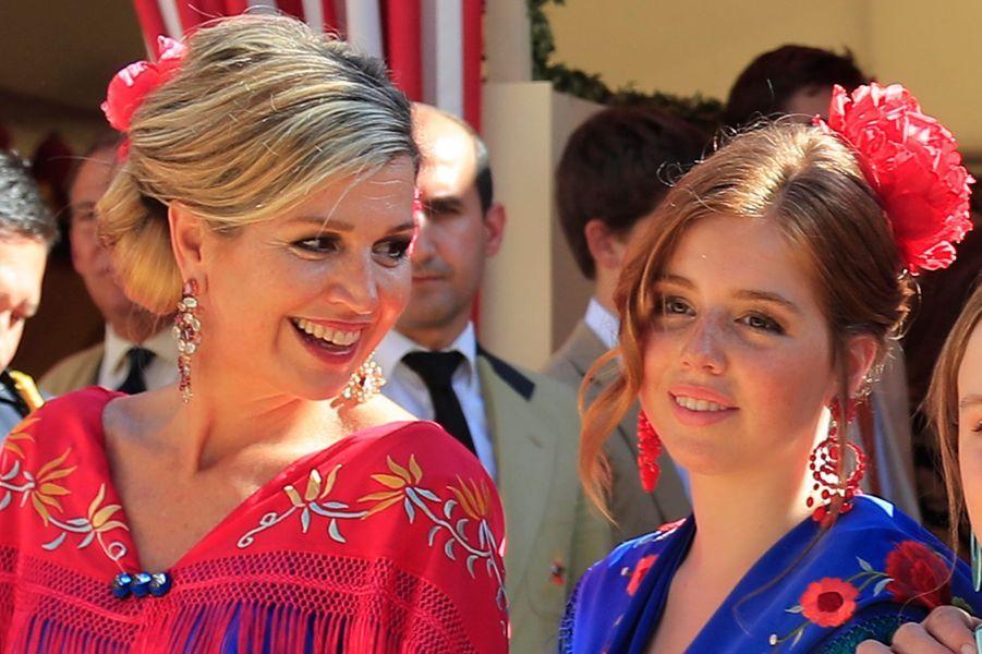 La reine Maxima et la princesse Alexia des Pays-Bas à Séville, le 10 mai 2019