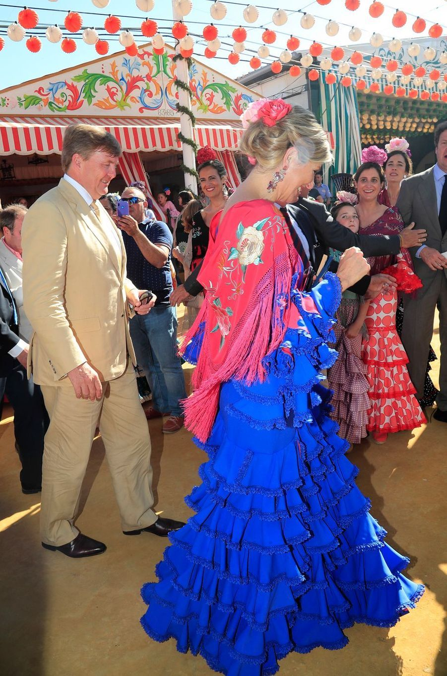 La reine Maxima et le roi Willem-Alexander des Pays-Bas à Séville, le 10 mai 2019