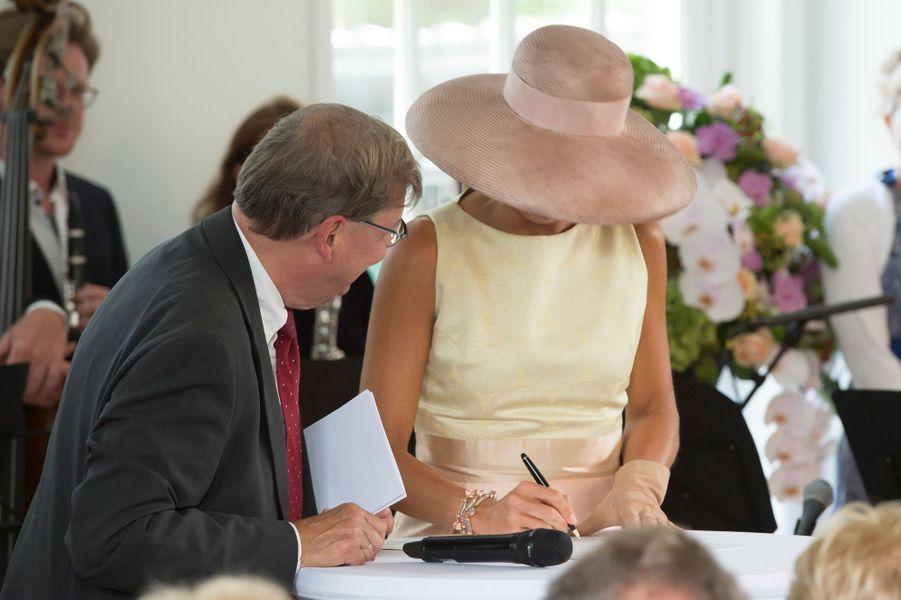 La reine Maxima des Pays-Bas à Laren, le 26 août 2015