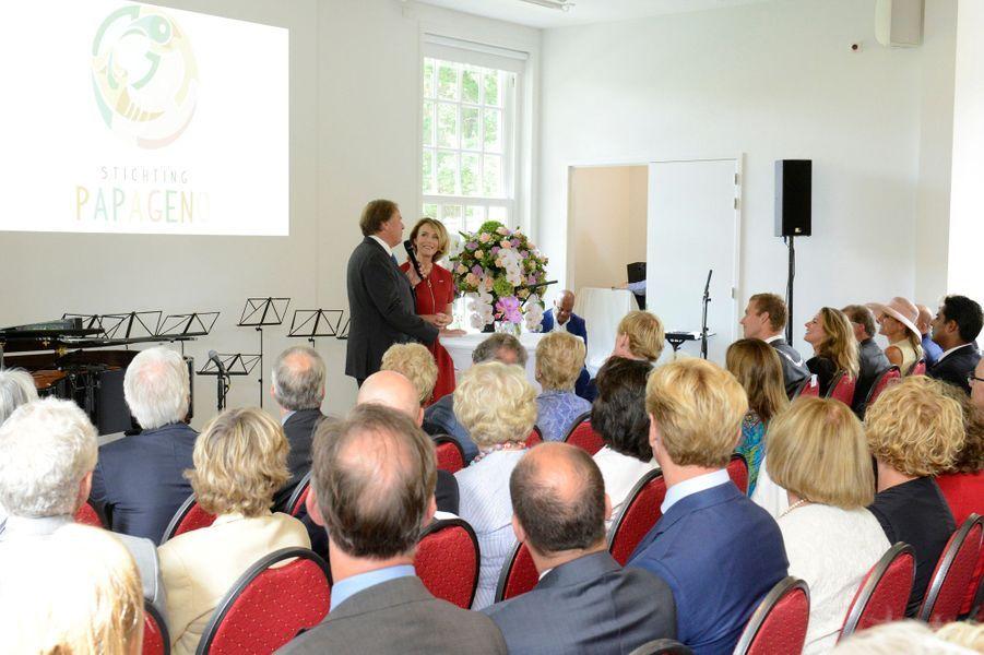 La reine Maxima des Pays-Bas et la princesse Annette d'Orange à Laren, le 26 août 2015