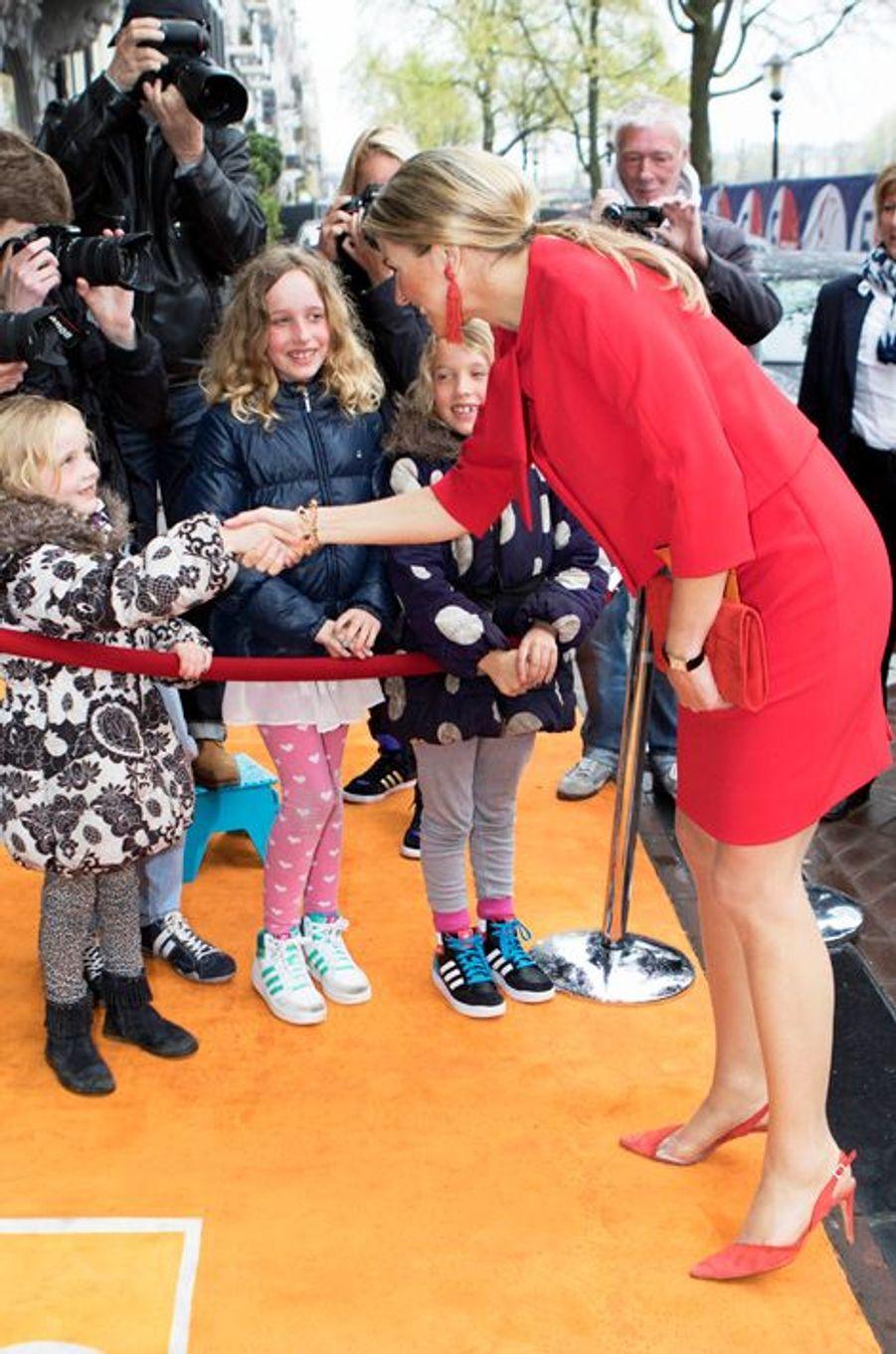 La reine Maxima des Pays-Bas à Amsterdam, le 3 mai 2015