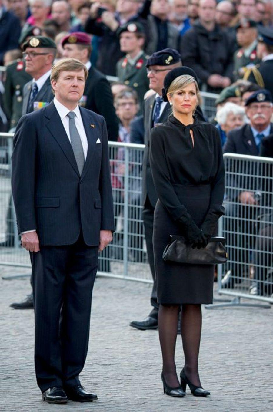 La reine Maxima et le roi Willem-Alexander des Pays-Bas à Amsterdam, le 4 mai 2015