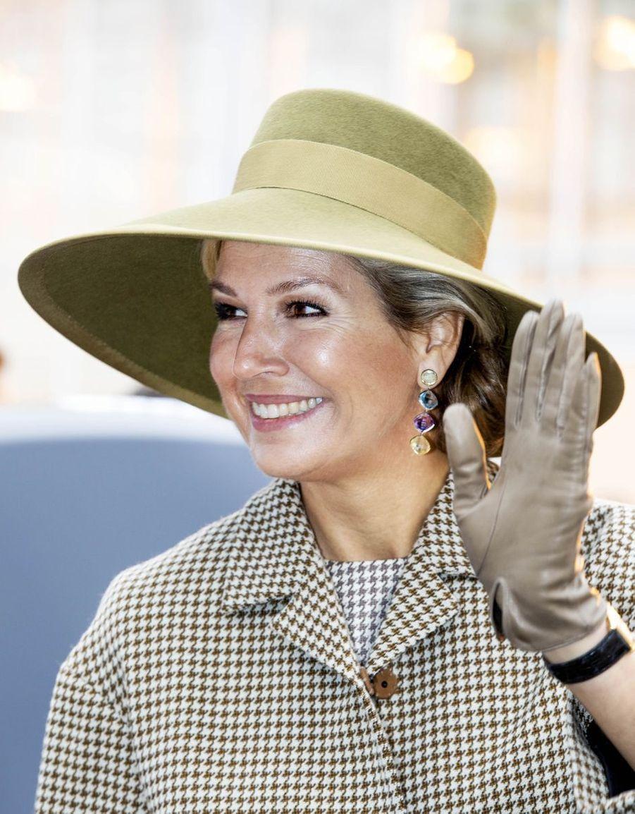 La reine Maxima des Pays-Bas à Bleiswijk, le 22 novembre 2018
