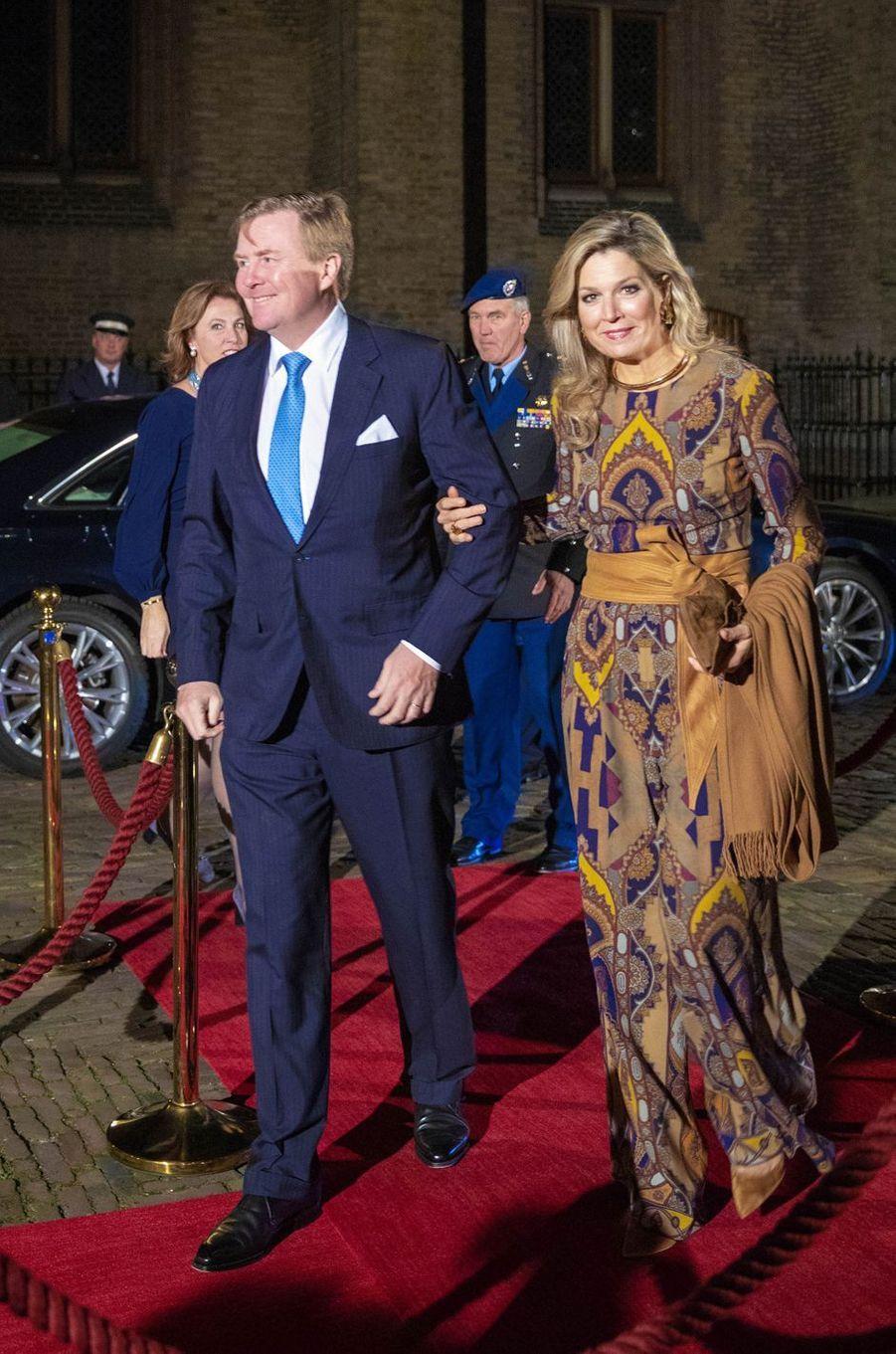 La reine Maxima et le roi Willem-Alexander des Pays-Bas à La Haye, le 22 novembre 2018