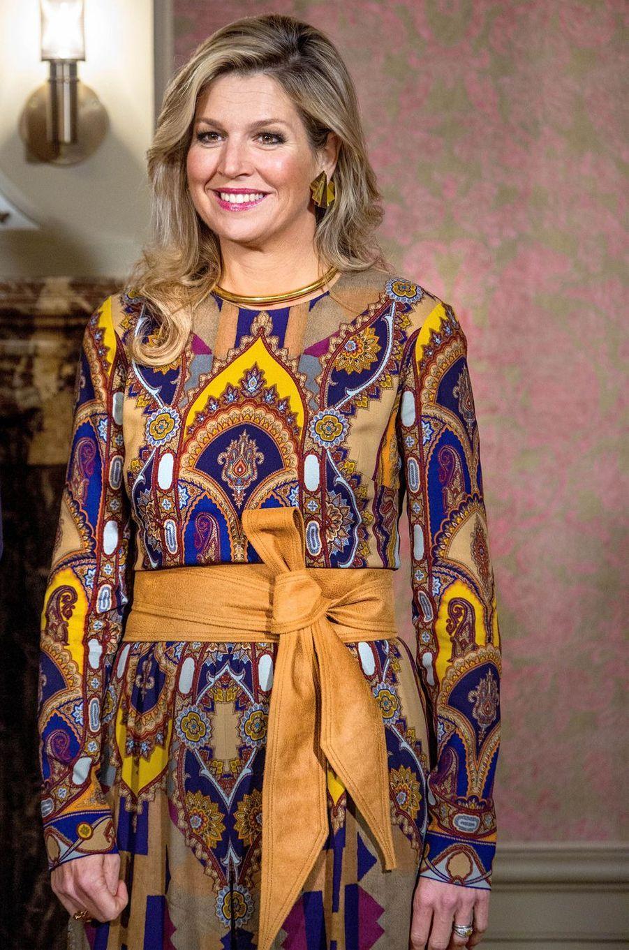 La reine Maxima des Pays-Bas à La Haye, le 22 novembre 2018
