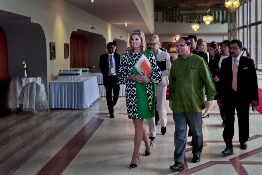 La reine Maxima des Pays-Bas à Dhaka au Bengladesh, le 18 novembre 2015