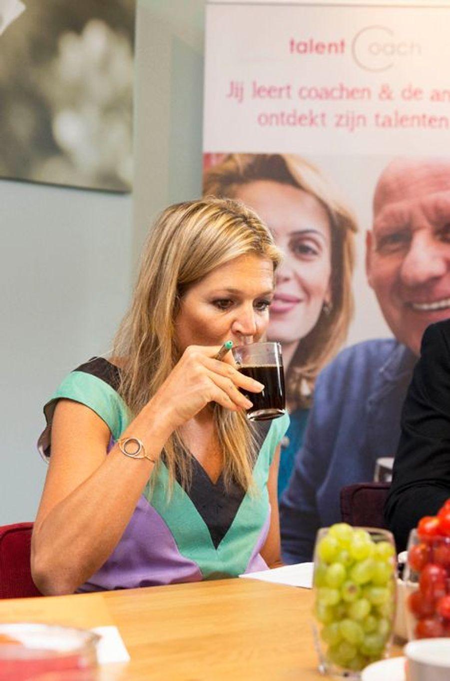 La reine Maxima des Pays-Bas à La Haye, le 28 août 2015
