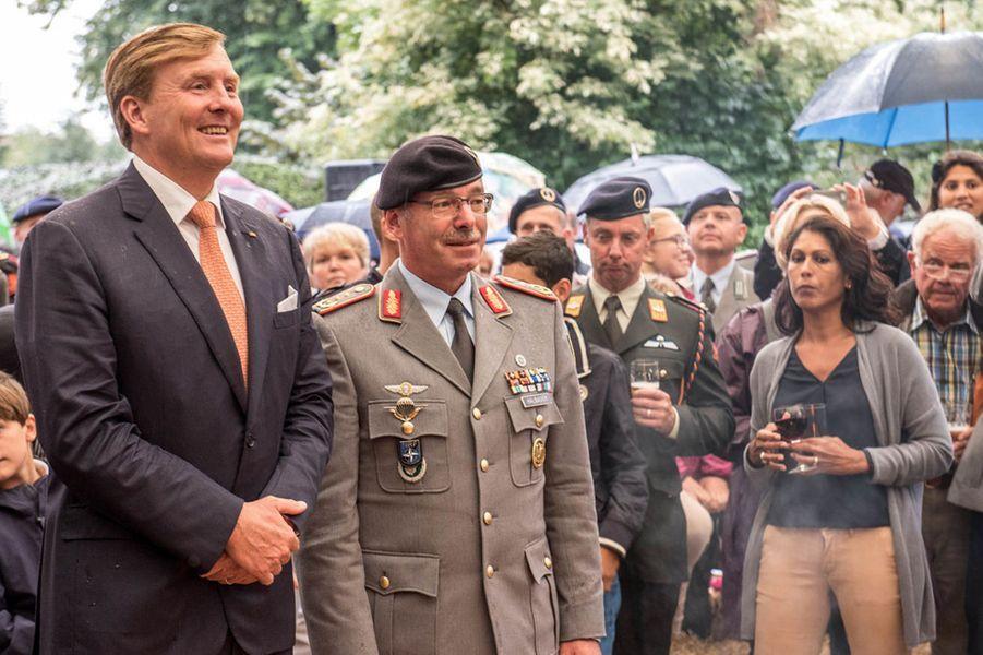 Le roi Willem-Alexander des Pays-Bas à Munster en Allemagne, le 27 août 2015