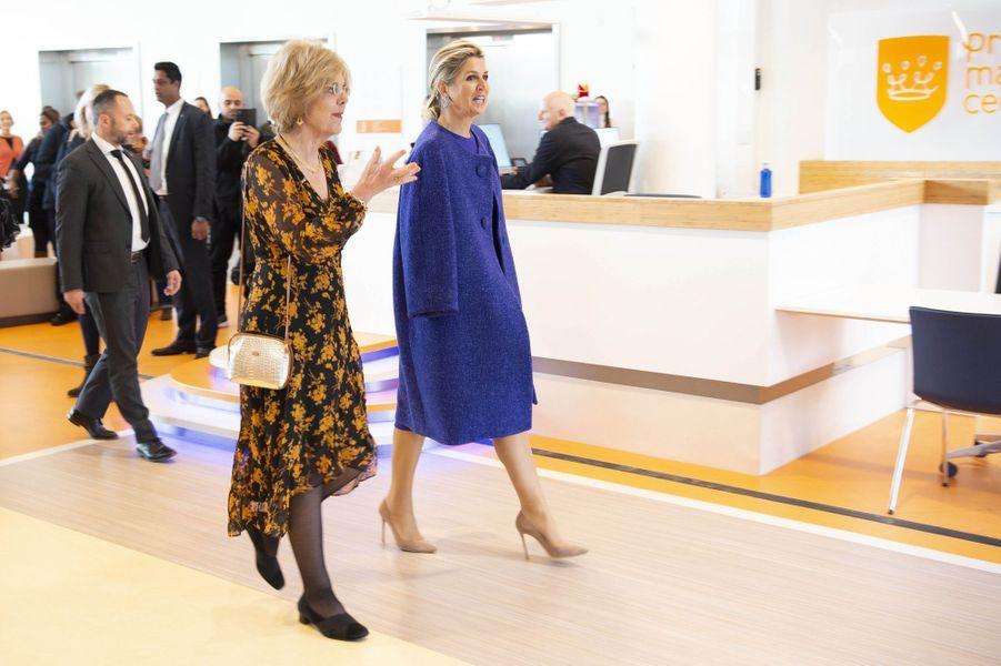 La reine Maxima des Pays-Bas au centre d'oncologie pédiatrique Princesse Maxima d'Utrecht, le 3 décembre 2019