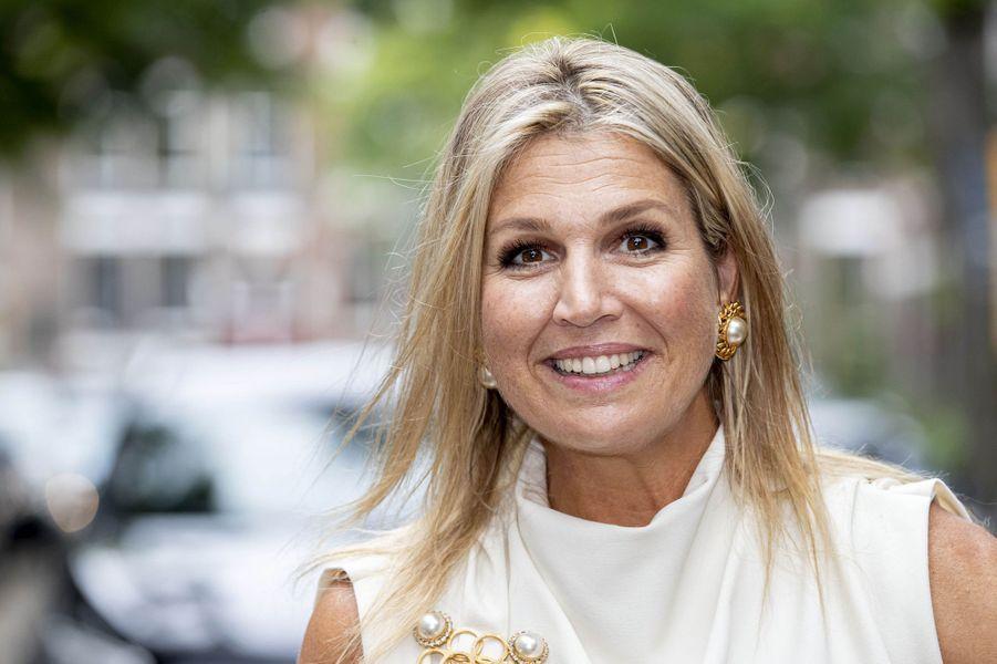 La reine Maxima des Pays-Bas fait sa rentrée à Rotterdam, le 3 septembre 2020