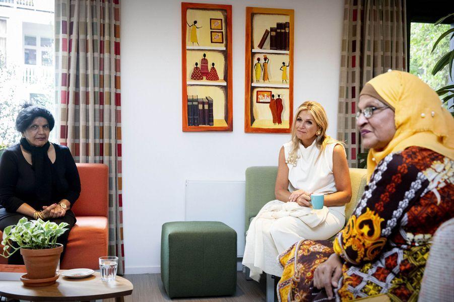 La reine Maxima des Pays-Bas à Rotterdam, le 3 septembre 2020