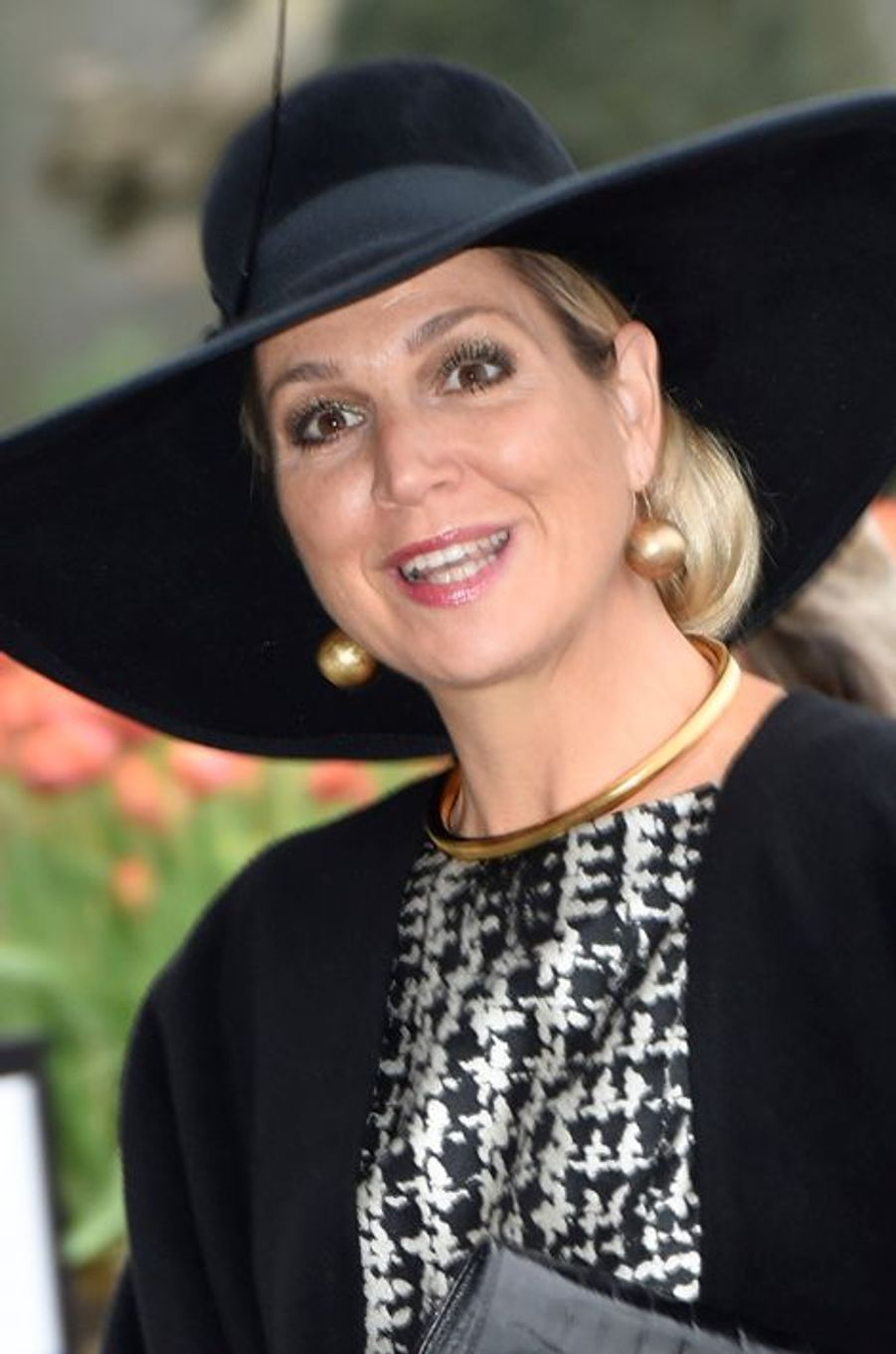 La reine Maxima des Pays-Bas au Keukenhof à Lisse, le 6 janvier 2016