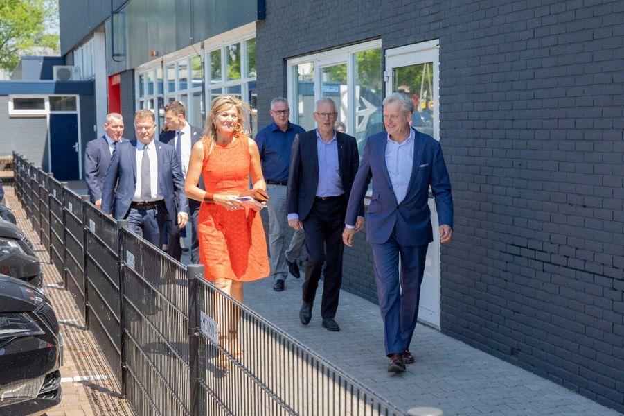 La reine Maxima des Pays-Bas en visite à Apeldoorn, le 25 juin 2020