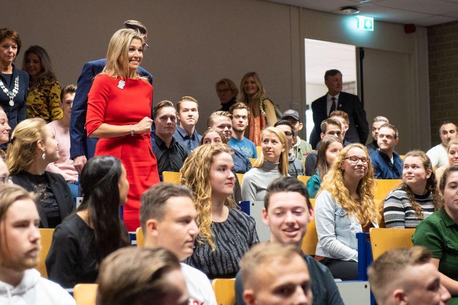 La reine Maxima des Pays-Bas le 20 novembre 2019, à Helmond