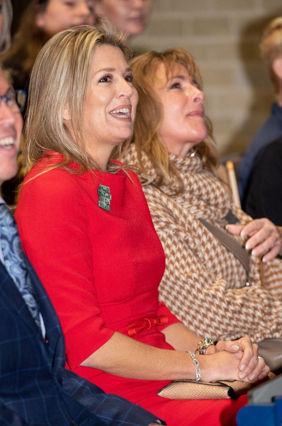 La reine Maxima des Pays-Bas à un engagement à Helmond, le 20 novembre 2019