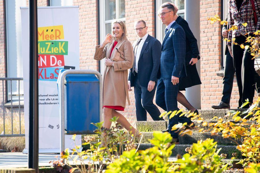La reine Maxima des Pays-Bas à Helmond, le 20 novembre 2019