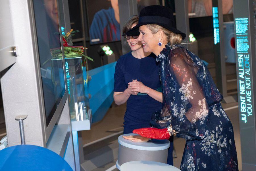 La reine Maxima des Pays-Bas à Amsterdam, le 21 novembre 2019