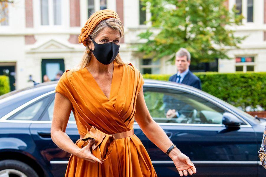 La reine Maxima des Pays-Bas à La Haye, le 1er octobre 2020