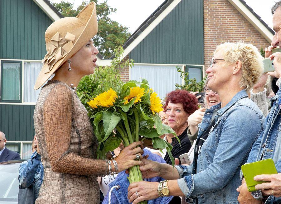 La reine Maxima des Pays-Bas, le 4 septembre 2019 à Toldijk