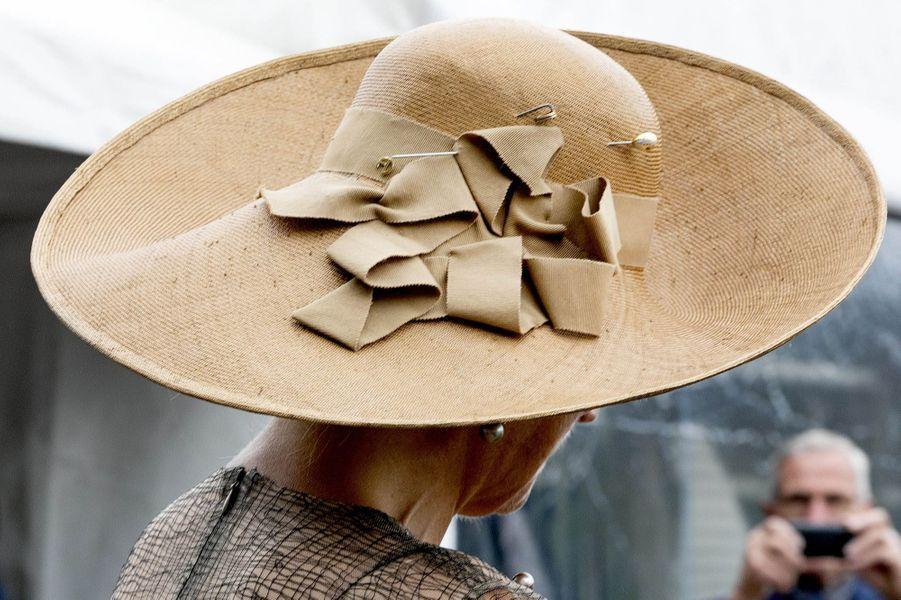 Le chapeau de la reine Maxima des Pays-Bas à Beltrum, le 4 septembre 2019