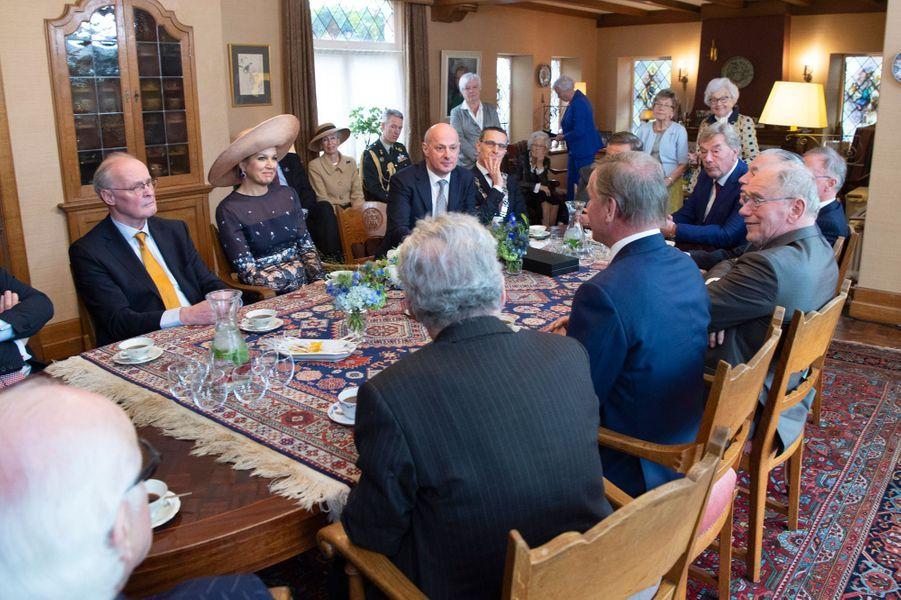 La reine Maxima des Pays-Bas avec la famille Swinkels à Lieshout, le 28 mars 2019