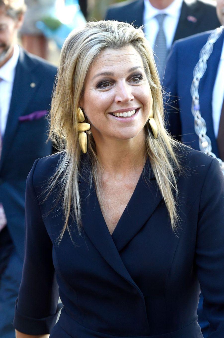 La reine Maxima des Pays-Bas en visite à Schiedam, le 13 septembre 2018