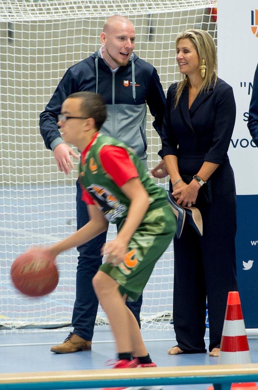 La reine Maxima des Pays-Bas à Schiedam, le 13 septembre 2018