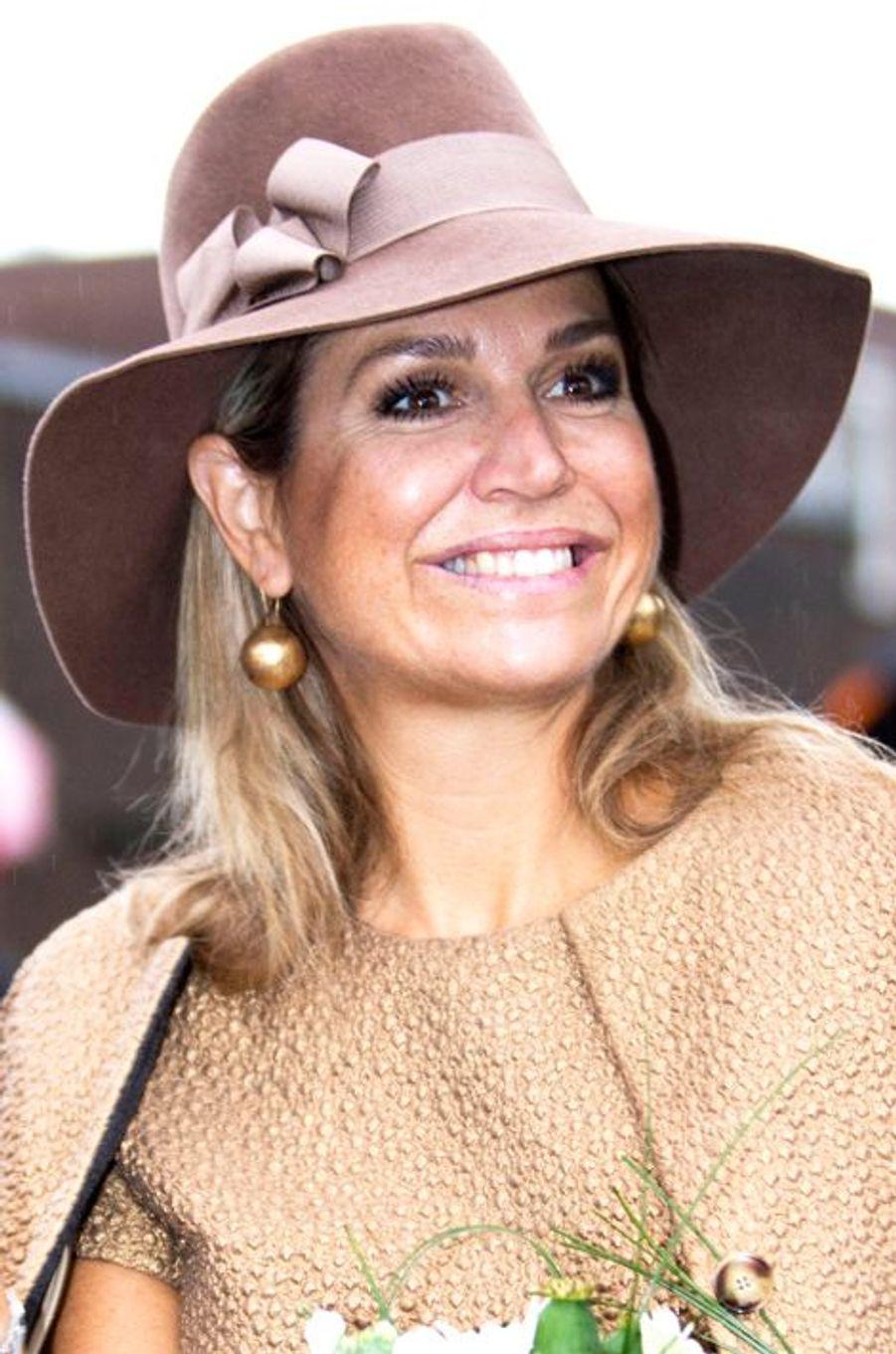 La reine Maxima des Pays-Bas à Alphen aan den Rijn, le 17 septembre 2015