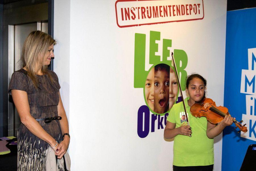 La reine Maxima des Pays-Bas à Amsterdam, le 16 septembre 2015