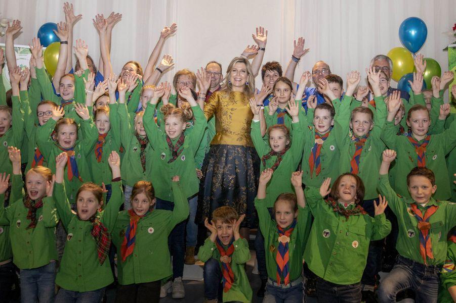 La reine Maxima des Pays-Bas à Noordwijkerhout, le 15 janvier 2020