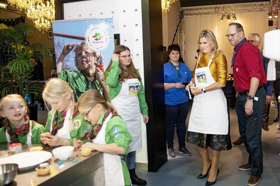 La reine Maxima des Pays-Bas, le 15 janvier 2020 à Noordwijkerhout
