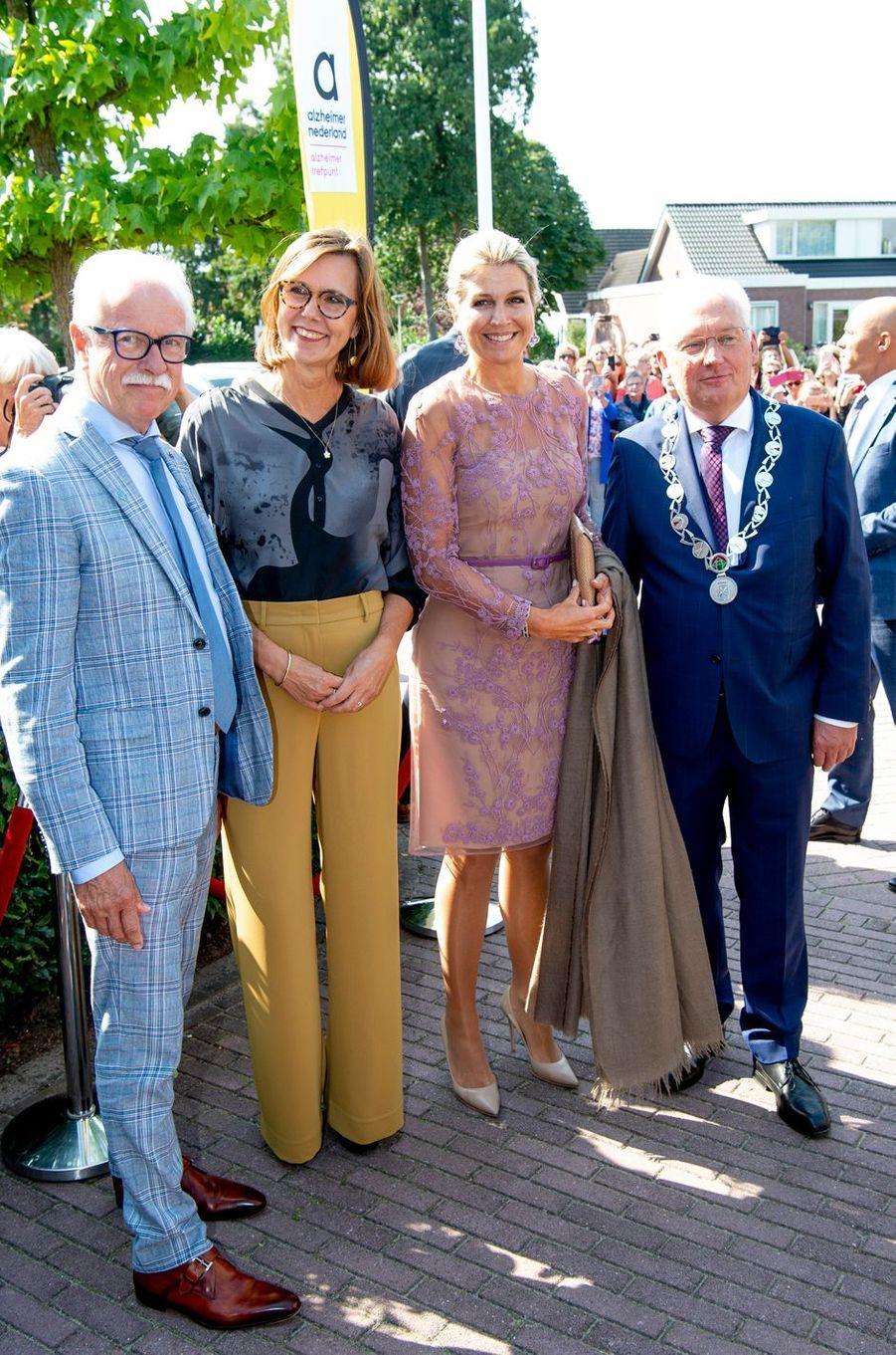 La reine Maxima des Pays-Bas, en Natan, à Giessenburg, le 10 septembre 2019