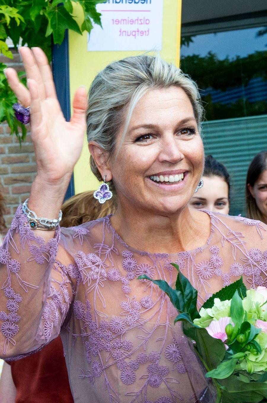 La reine Maxima des Pays-Bas à Giessenburg, le 10 septembre 2019