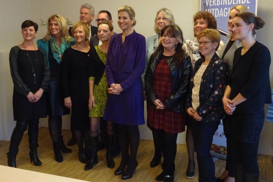 La reine Maxima des Pays-Bas à Pijnacker-Nootdorp, le 27 janvier 2016
