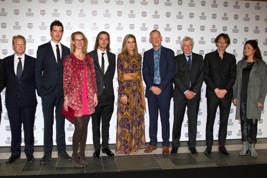 La reine Maxima des Pays-Bas au Festival international du film de Rotterdam, le 27 janvier 2016