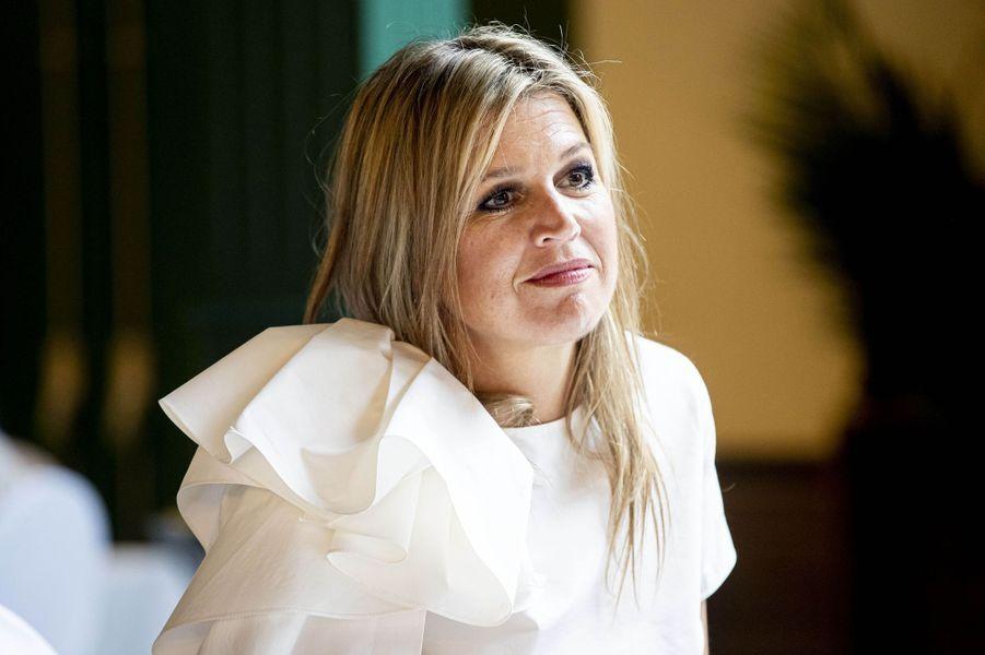La reine Maxima des Pays-Bas à Puttershoek, le 16 juin 2020