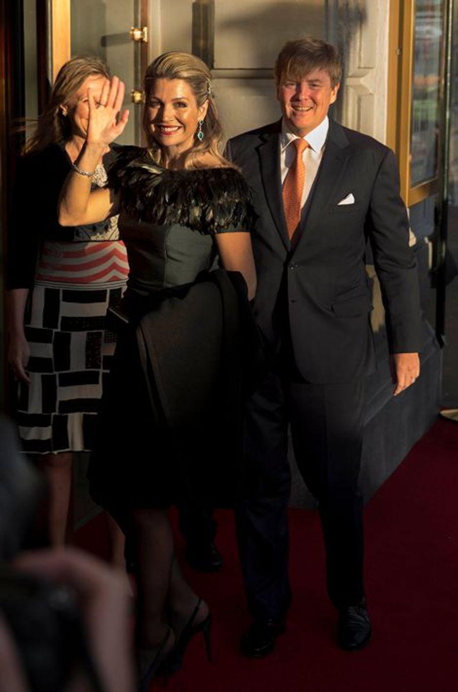 La reine Maxima et le roi Willem-Alexander des Pays-Bas à Amsterdam, le 5 mai 2015